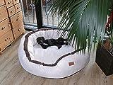 tierlando LA5-05 LANA Hundesofa Hundebett Velours MEGA DICK gepolstert Gr. XL 120cm CREME