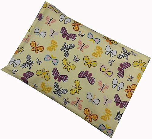 Almohada térmica de espelta con funda, mariposas, 20 x 30