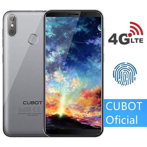 "CUBOT J3 Pro (2018) Pantalla 18:9/5.5"" 4G Android GO Reconocimiento Facial Dual Sim 1GB + 16GB, Dual Cámara Trasera 13MP +2MP/ Frontal 5MP, Procesador Quad-Core,WiFi, Bluetooth,GPS,4G/3G/2G Plata"