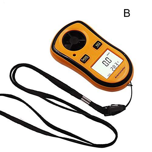 WZDTNL anemometro, Digitale LCD, Portatile, 0-30 m/s, misuratore della velocità del Vento, per...