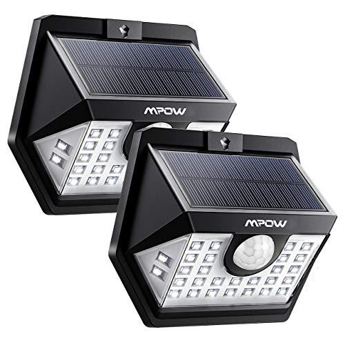 [2 Pezzi]Luce Solare Mpow 30 LED, 3 Modalità di Illuminazione, Impermeabile IP65 Luci Solari con...