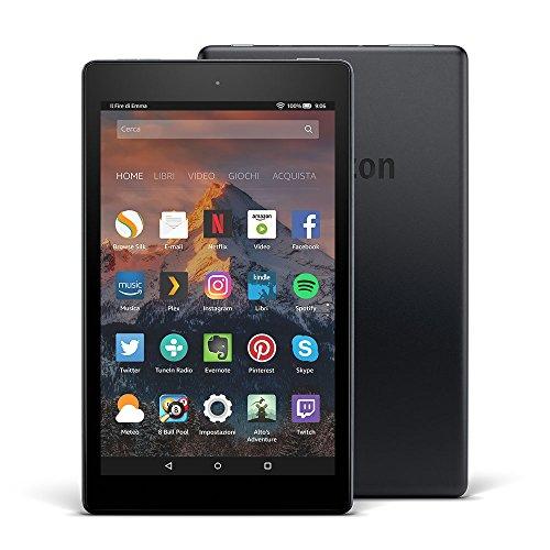 Tablet Fire HD 8, schermo HD da 8', 16 GB, (Nero) - con offerte speciali (7ª generazione - modello...