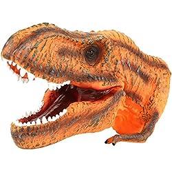 Cabeza de Dinosaurio Suave Marioneta de Mano para Niños Infantiles Juego de Roles Interesante Guante de Juguete Figura de Dinosaurio Socialme-EU (Alosaurio)