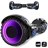 MARKBOARD Hoverboard,Elektro Scooter 6,5 LED Elektro Scooter E-Balance E-Skateboard Elektroroller Bluetooth LED (Armeegrün1)