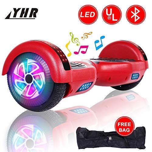 YHR Hoverboard da 6,5 Pollici per Bambini e Adulti con Bluetooth, 2 Ruote Hoverboard autobilanciate...