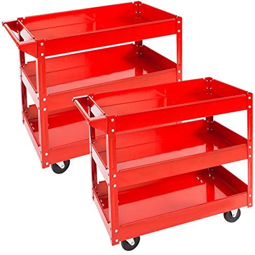 TecTake Werkstattwagen Werkzeugwagen Rollwagen - diverse Modelle - (2er Set 3 Etagen   Nr. 402422)