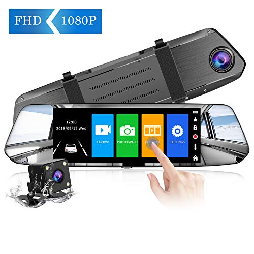 【2019 Nuova Versione】CHORTAU Telecamera per Auto da 7 pollici Touchscreen Full HD 1080P,...