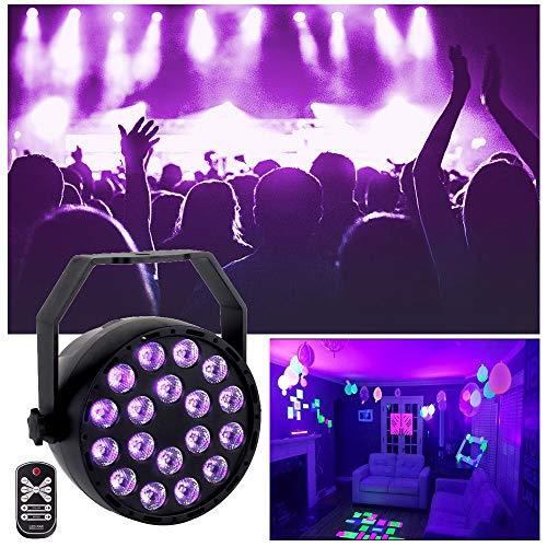 Decdeal Luce Discoteca UV, Luci Discoteca LED Luce Nera Mini Luci da Palco Luce Effetto Fase Lampada...
