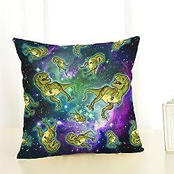 Almohada dinosaurios Impreso Sofá Decoración Cojín Caso agarre Bar Funda de almohada decorativa Cojín