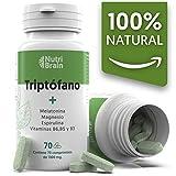 Natural Triptófano con Melatonina y Espirulina | 70 Comprimidos | Fórmula natural para mejorar el...