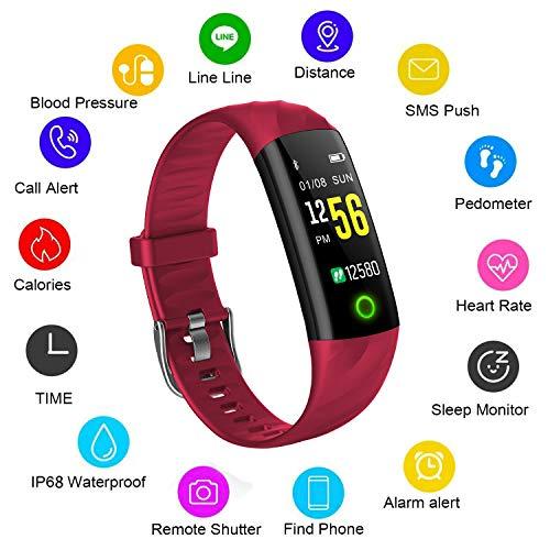 Fitness tracker,WISHDOIT Impermeabile Braccialetto intelligente Con Cardiofrequenzimetro...