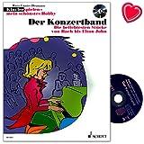 Piano Jugar Mein schönstes Hobby–El concierto de banda–Los trozos más populares de Bach a Elton John–Ordenador libro con CD y Bunter herzförmiger Ordenador Pinza