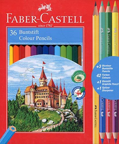 Faber-Castell 110336 Matita Colorata, 36 Pezzi