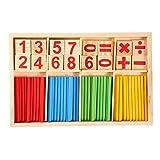 In legno colorato Toys Building Blocks conteggio bastoni per i bambini, in età prescolare educativo matematica