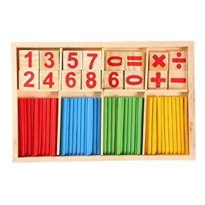 Yosoo Colorido Juguetes de Madera Bloques de Construcción Contando los Palillos de Bambú para Niños, Preescolares…