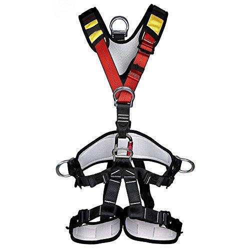 Suntime Arn矇s de Seguridad de Escalada para Hombre Mujer Alpinismo Cuerda Equipo Escalada Ajustable Al Aire Libre Rappel Cintur籀n Seguridad de Rescate para Trabajo Trekking Senderismo Rappelling