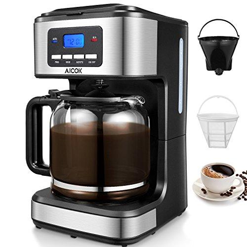 Macchina Caffe Aicok, Macchina caffe Americano 1000Watt, CaffettieraAmericana Digitale Automatica...