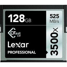 'Lexar lc128crbeu3500Professional 3500X (525mb/S) Pro CFast CompactFlash Tarjeta de Memoria, 128GB
