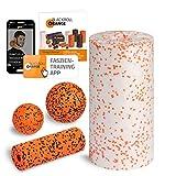 Blackroll Orange Starter Set, mit der Faszienrolle MED, alles für den softeren Einstieg ins Faszientraining, inkl. Übungsbooklet