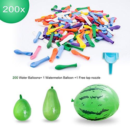 Elegear Wasserballons Wasserbomben Wasser Bomben - 200 Pack Schnellfüller Water Luftballons Luftballons bunt