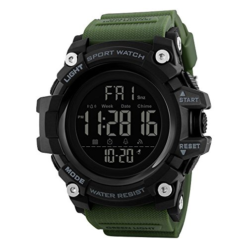 V2A Military Green Digital Multi-Function Chronograph Sports Watch for Men and Boys