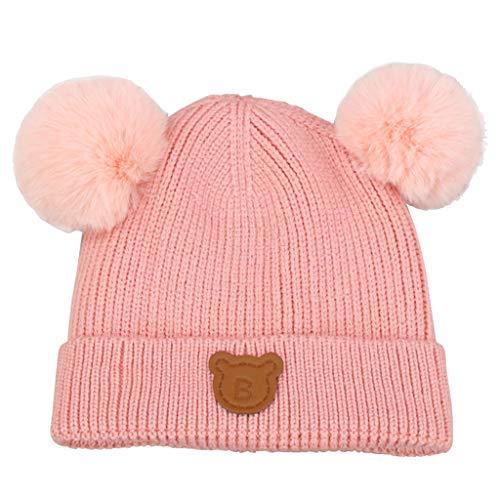 IvyH Baby Hat,Gorro de Invierno para niños Gorro de Invierno para niños Gorro de Lana para niño con Gorro Pompom