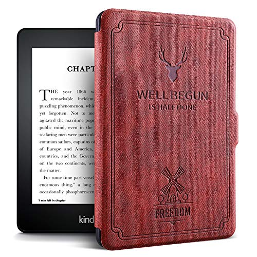 ProElite Deer Smart Flip case Cover for All Amazon Kindle Paperwhite 10th Generation (Deer Wine Red) 1  ProElite Deer Smart Flip case Cover for All Amazon Kindle Paperwhite 10th Generation (Deer Wine Red) 51DEyMxfHLL