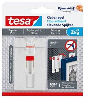 tesa-Klebenagel-fr-Tapeten-und-Putz-verstellbar-2-kg-4-Ngel-2er-Pack