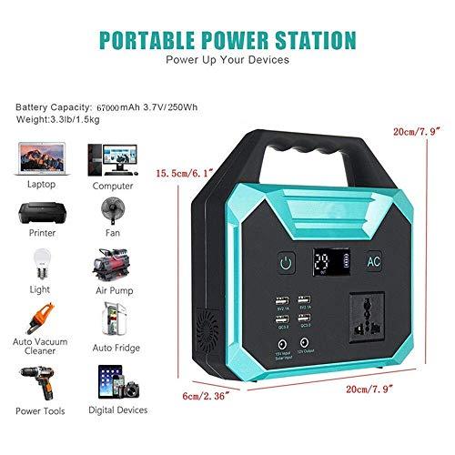 WANGTAO Générateur Portable Convertisseur De Puissance 67000Mah/250Wh Pack Batterie Rechargeable par Panneau Solaire/Prise Murale/Voiture De... 23