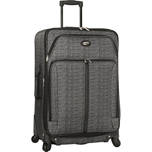 """Travel Gear Luggage 29"""" Expandable 4wheel Spinner Suitcase, Heather"""