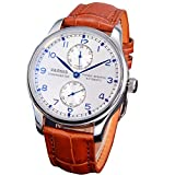 43mm White Dial Parnis Power Reserve Automatic Self-wind Men's Wristwatches