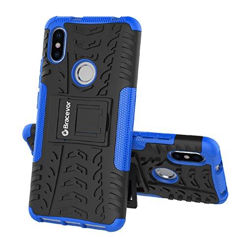 Bracevor RDY2DZKSBU Back Case Cover with Kickstand for Redmi Y2 (Blue)