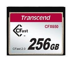Transcend TS256GCFX650 - Tarjeta de Memoria CFast , 256 GB, 510 Mb/s