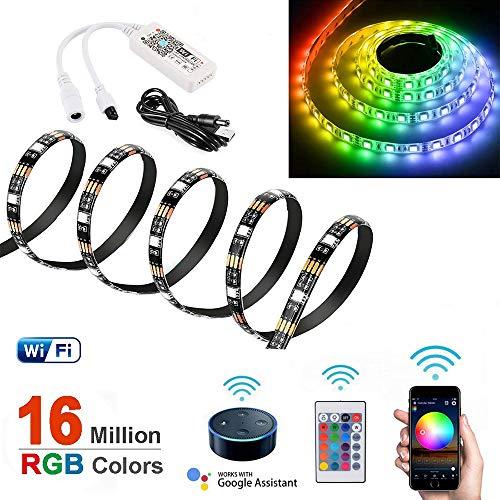 1m WiFi Luce di Striscia LED per Amazon Alexa e Google Home, Inteligente Nastro LED Impermeabile...