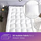rejuvopedic New Double Bed Size Microfibre Mattress Topper,** New 3D Massage Bubbbles Fabric**, Box Stitched, 230 TC Cover & Elasticated Corner Straps