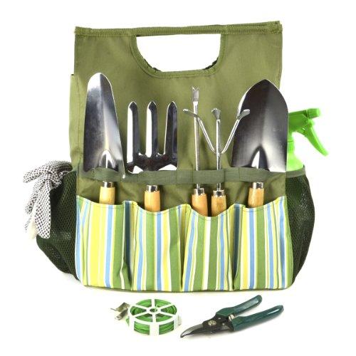 Plant Theatre Bolsa esencial de herramientas de jardín - Incluye herramientas - Regalo para jardinero