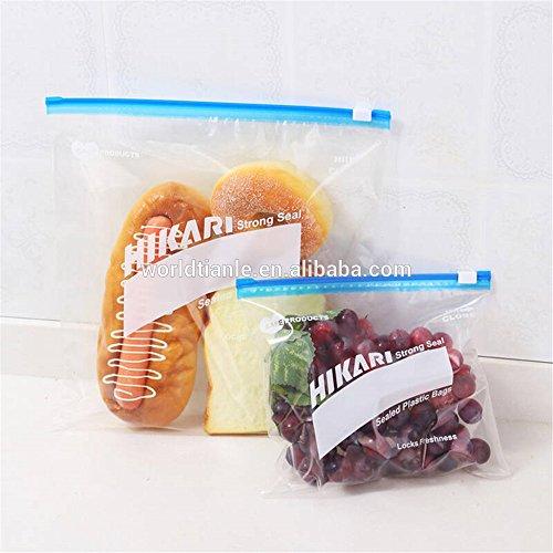 Slide-Rite Plastic Multi-Purpose Storage Slider Bag, 250, 500 GM, 1kg (Pack of 45 Piece) Colour - clear