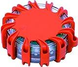 Warnblinkleuchte Led Warnleuchte Auto - als Ergänzung zum Warndreieck & Warnweste mit Magnet und 16 LED fürs Auto Notfall Pannenhilfe