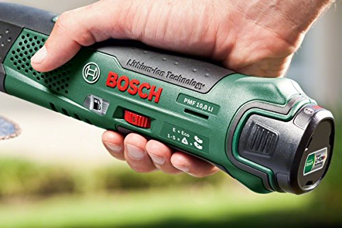 Comfortable to hold - Bosch PMF 10.8 LI Cordless Multi-Tool with 10.8 V 2.0 Ah Lithium-Ion Battery