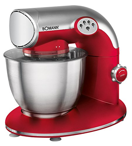 Bomann KM 305 CB Robot da cucina, Rosso/argento