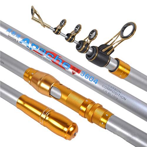 Carbon Sea Pole 3.6/3.9/4.2/4.5/5.4 /, 5.0M Canna da pesca Spinning Canna da pesca Attrezzatura da pesca per Carpa, Spigola-3.9