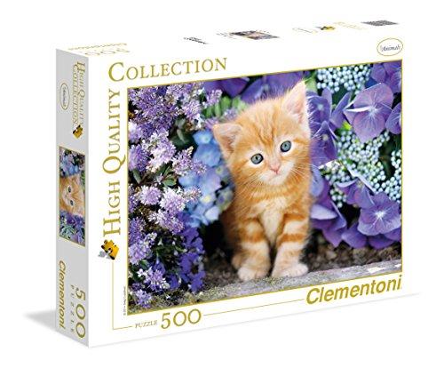 Clementoni 30415 - Puzzle 500 Pezzi Gattino Rosso