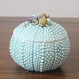 LILSN  Continental mediterranea creativa Serbatoio conchiglie Shell ornamenti gioielli scatola di ceramica ornamenti POT decorativo ( colore : Blu )