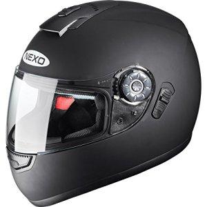 Integralhelm Motorradhelm Vollvisierhelm Nexo Travel, Integralhelm, integrierte Sonnenblende, mehrfache Be- und Entlüftung, Ratschenverschluss, Wangenpolster komplett herausnehmbar und waschbar, XS-XL 1