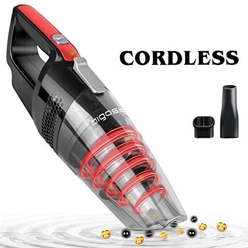 Aigostar Mars 33LBY - aspirabriciole portatile senza fili, uso secco e bagnato, Aspirapolvere...