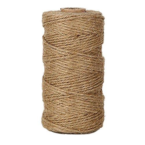 EDGEAM 328 pies/100m Natural Yute Cuerda Twine Cordel de Jute para la Etiqueta de la Caída, Tarjeta, Regalo, Manualidades Bricolaje, Jardín Trabajo (1PC)