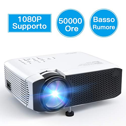 APEMAN Mini Proiettore Portatile Cellulare Home Theater, 4000 Lumen LED Videoproiettore Full HD...