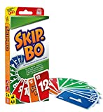 Mattel Games 52370 - Skip-Bo Kartenspiel, geeignet für 2 - 6 Spieler, Spieldauer ca. 30 Minuten, Kartenspiele ab 7 Jahren