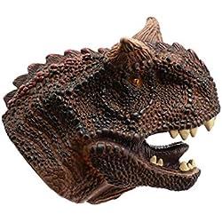 Marioneta de mano de dinosaurio para niños Suave de goma Carnotaurus realista Juego de rol