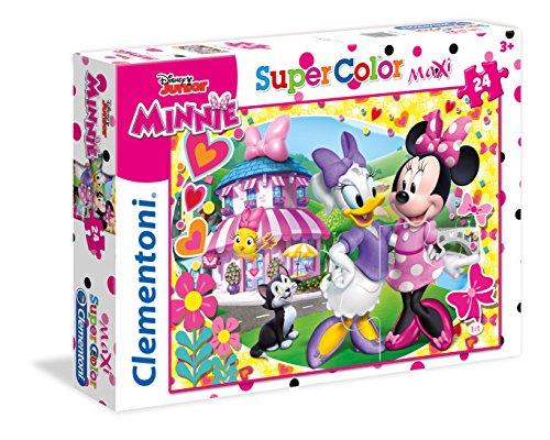 Clementoni - 24480 - Supercolor Puzzle - Minnie - 24 Maxi Pezzi - Disney